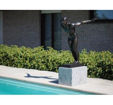 Sodo skulptūra Plaukikas Davidas, 115x60x110