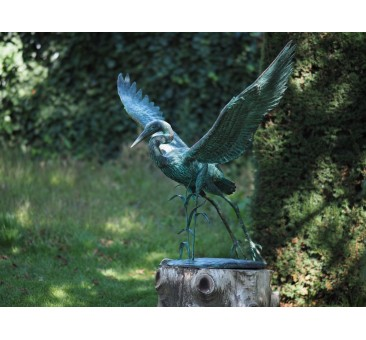 Sodo skulptūra Skraidantis kranas, 82x105x70