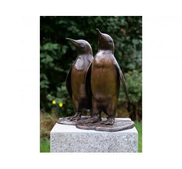 Sodo skulptūra 2 pingvinai, 46x25x44