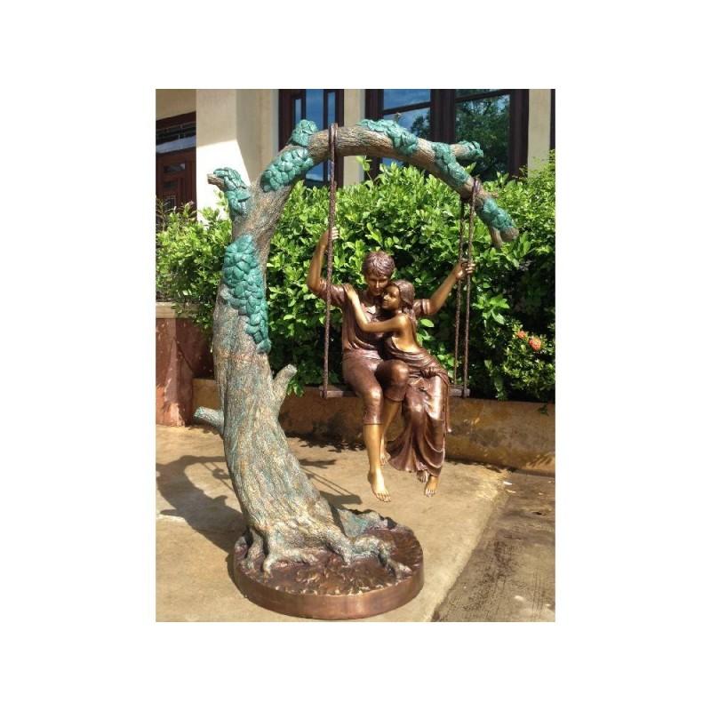 Sodo skulptūra Porelė sūpynėse, 160x80x120