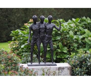 Sodo skulptūra 3 Vyrai, 73x16x50
