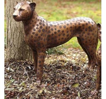 Sodo skulptūra Stovintis gepardas, 61x20x73