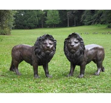 Sodo skulptūra Liūtų pora, 100x45x153