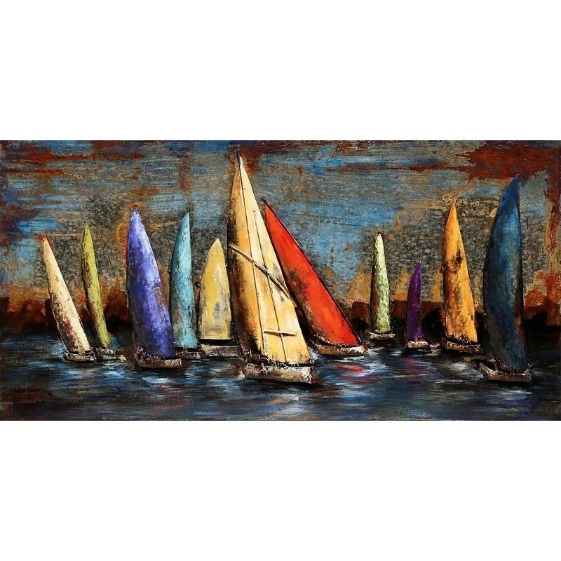Paveikslas Burinės valtys, 150x60x7