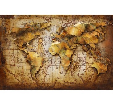 Paveikslas Pasaulio žemėlapis, 120x80x5