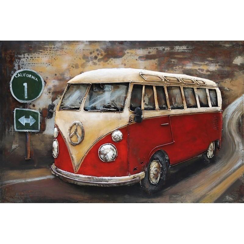 Paveikslas Raudonas autobusas, 80x120x6