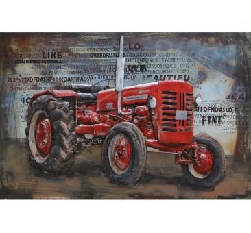 Paveikslas Raudonas traktorius, 80x120x6