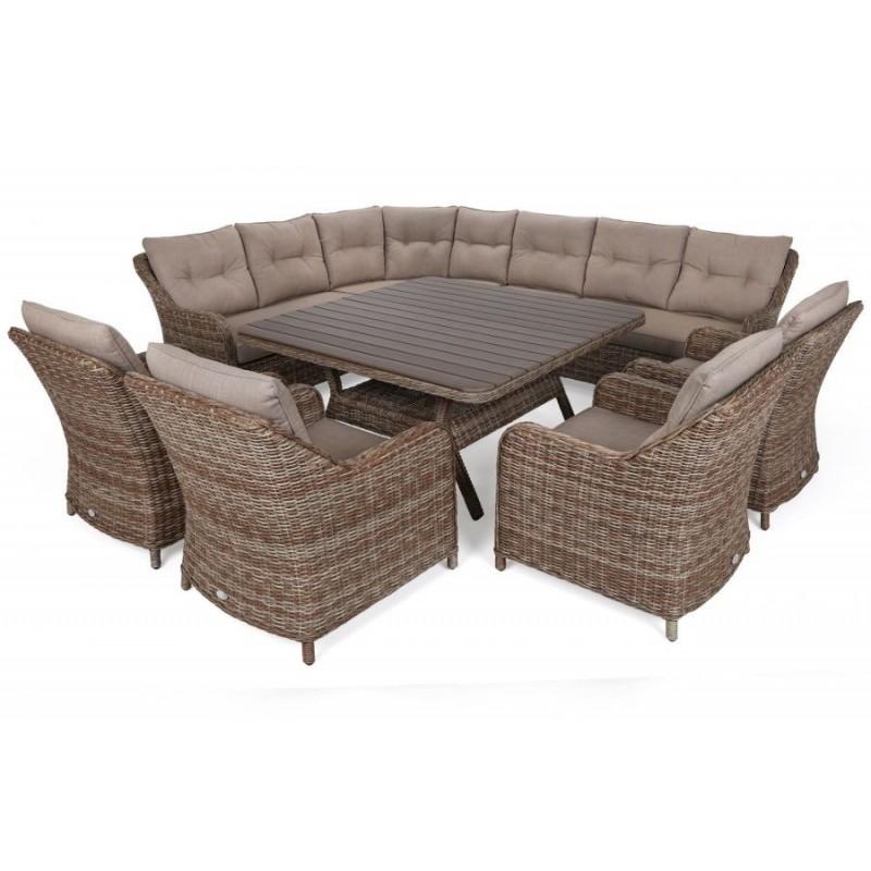Lauko baldų komplektas WINTSOR DINING BEIGE/BEIGE MELANGE