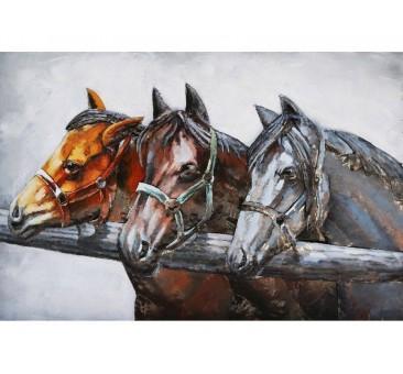 Paveikslas 3 arkliai, 80x120