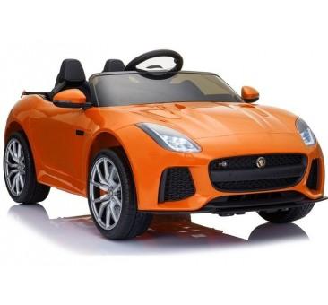 Elektromobilis Jaguar F lakuotas, oranžinis