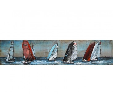 Paveikslas Burinės valtys, 40x180