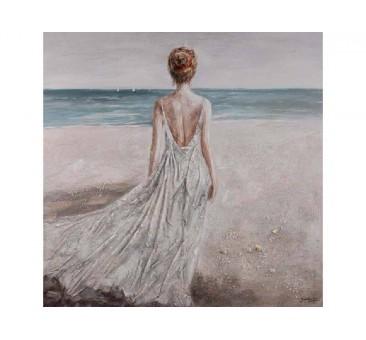 Paveikslas Moteris prie jūros, 120x120