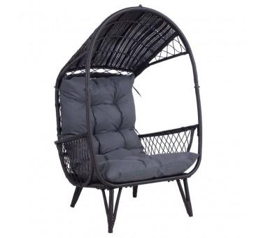 Lauko kėdė TANJA, tamsiai ruda