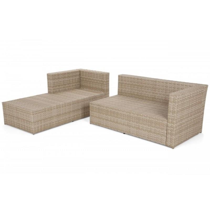 Lauko baldų komplektas ANALFI 2 BEIGE/BEIGE MELANGE