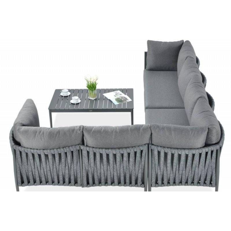 Monza pilkas kampas su foteliu