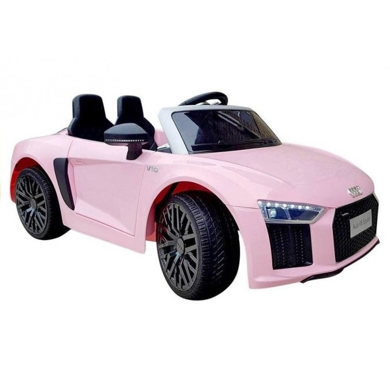 Elektromobilis AUDI R8 rožinis