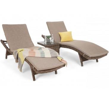 Lauko gultai MAROBELLA GINGER/BROWN MELANGE + staliukas