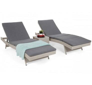 Lauko gultai NORA WHITE/GREY  + staliukas