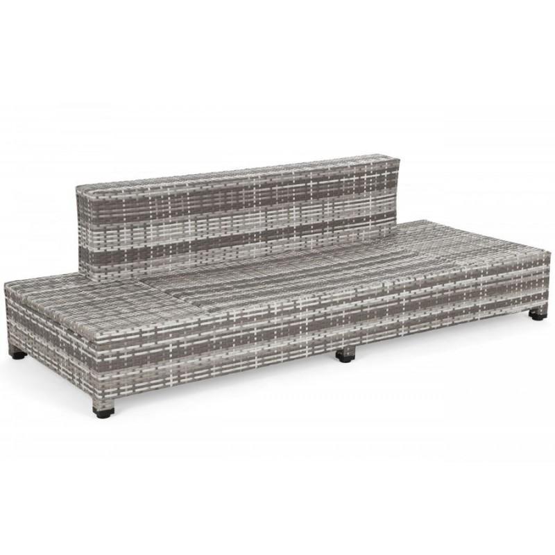Lauko sofa MILANE BROWN + staliukas