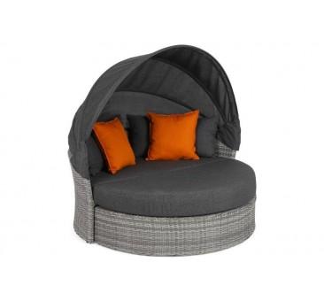 Lauko sofa Sydney su baldakimu ir pagalvėlėmis grey/grey melange