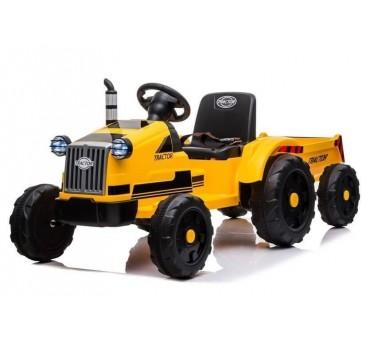 Traktorius CH9959 su priekaba geltonas