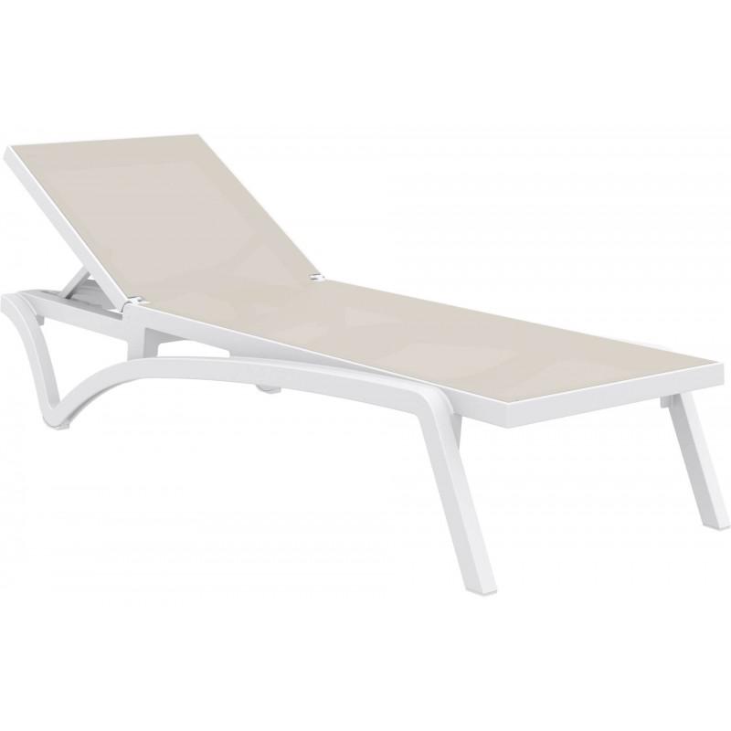 Lauko gultas SIESTA PACIFIC balta/ruda