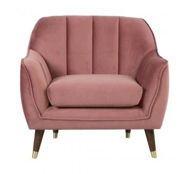 Fotelis JOANNA rožinis aksomas