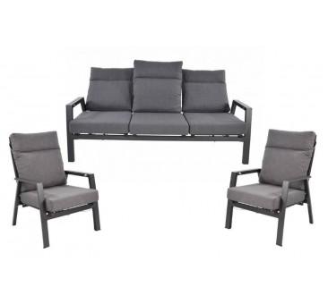 Lauko baldų komplektas OHIO/MOJITO  su triviete sofa