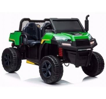 Elektomobilis A730-1 žalia-juoda