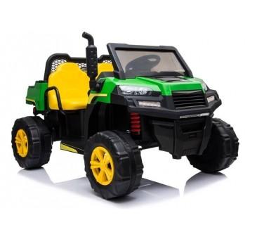 Elektomobilis A730-1 žalia-geltona