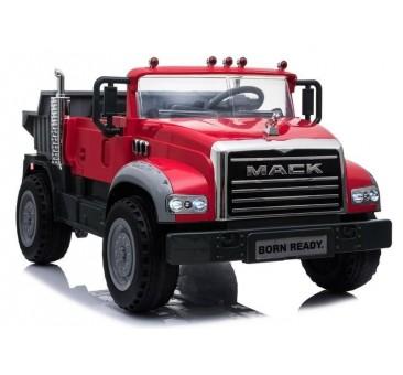 Elektromobilis sunkvežimis MACK, 12V, raudonas