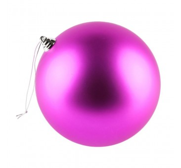 Žaisliukas eglutei, 20cm, rožinis, matinis