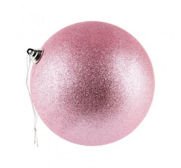 Žaisliukas eglutei, 20cm, rožinis, blizgus