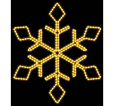2D LED dekoracija SNAIGĖ 65 cm, šiltai balta