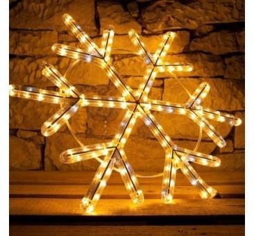 2D LED dekoracija SNAIGĖ  60 cm, šiltai balta, flash
