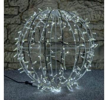 LED dekoracija - kamuolys, 60cm šaltai baltas