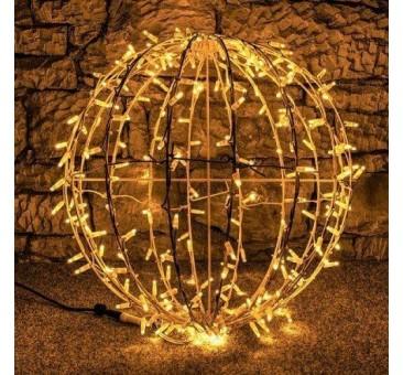 LED dekoracija - kamuolys, 60cm šiltai baltas
