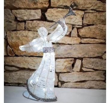 Dekoracija Angelas su baterijomis 50cm, šaltai baltos spalvos