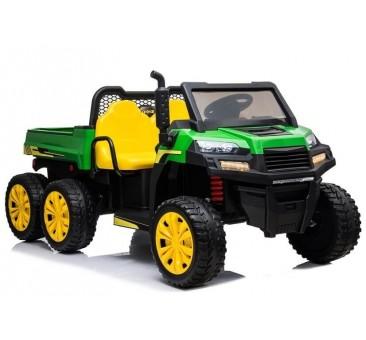 Elektomobilis A730-2 žalia-geltona