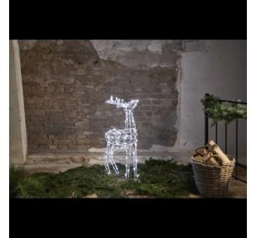 3D dekoracija elnias, 90cm 120 LED lempučių