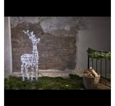 3D dekoracija elnias, 120cm 240 LED lempučių