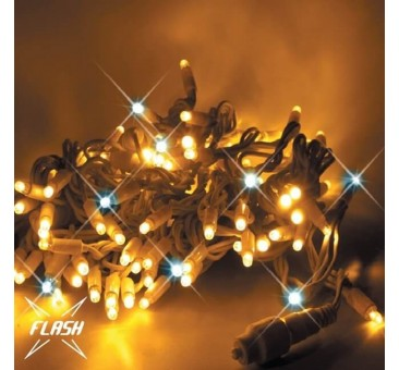 LED girlianda 20m, 120 diodų, šiltai balta