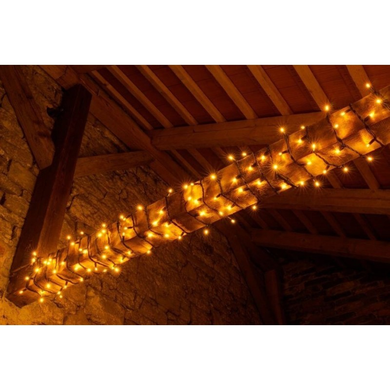 LED girlianda 5m, 60 diodų, šiltai balta, IP67