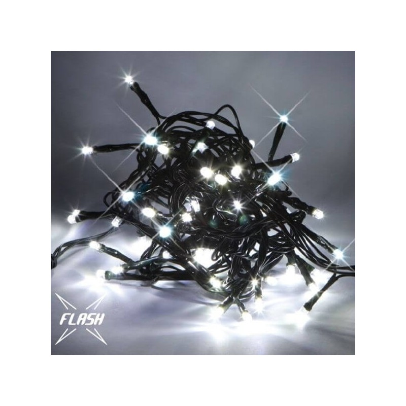 LED girlianda 5m, 60 diodų, šaltai balta, IP67