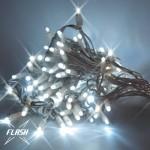 LED girlianda 5m, 60 diodų, šaltai balta, FLASH, IP67
