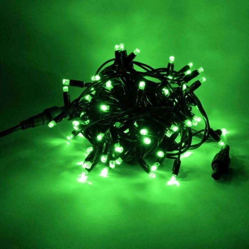 LED girlianda 5m, 50 diodų, žalia, IP44