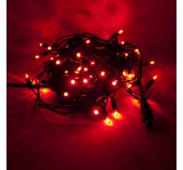 LED girlianda 5m, 50 diodų, raudona, IP44