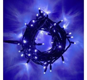LED girlianda 5m, 50 diodų, mėlyna, IP44