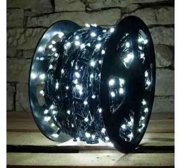 LED girlianda 100 m 1000 diodų šaltai balta, FLASH IP67