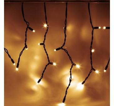 LED girlianda varvekliai 114 diodų 3 m H 0,5 m šiltai balta, IP67
